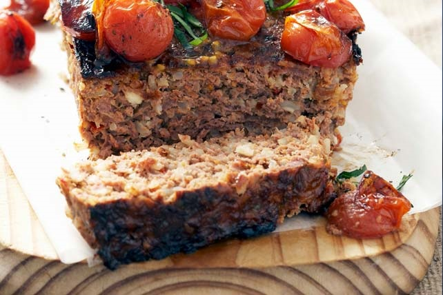 Turkey Meatloaf with Tomatoes and Basil