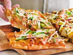 Pizzas au poulet grillé Madras