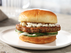 BOCA Essentials Roasted Vegetable & Red Quinoa Burgers with Marinated Onions, Cucumbers & Feta