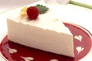 Gateau au fromage framboise