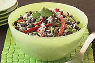 Salade d' haricots noirs et de riz