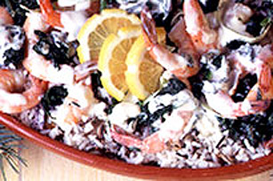 Shrimps in Green Sauce Image 1