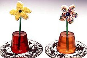 Pots de fleur JELL-O à la crème Image 1