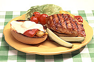 Barbecued Chicken Burger