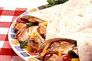 Barbecued Chicken Fajitas