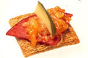 Bouchées au salami et au cheddar