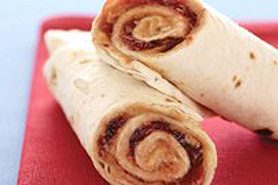 KRAFT Peanut Butter and Jam Tortilla Roll-Ups