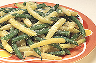 Parmesan Green and Yellow Beans