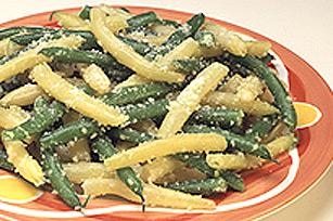 Haricots verts et jaunes au parmesan Image 1