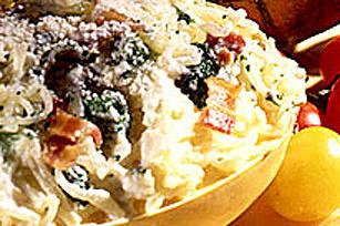 Courge spaghetti carbonara au parmesan Image 1