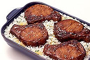 Côtelettes de porc teriyaki SHAKE'N BAKE avec riz aux ananas Image 1