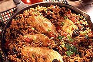 Repas riz dans une poêle Image 1