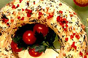 Festive Cheese Wreath Image 1