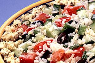 Salade grecque au riz et au feta
