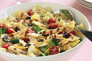 Salade de boucles au poulet