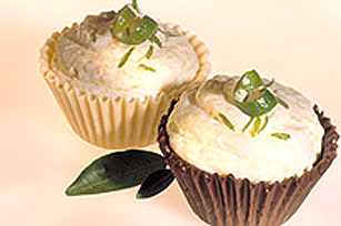 Lime Mango Mousse in Chocolate Cups Image 1