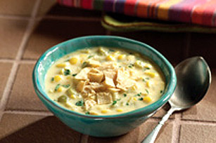 Spicy Southwest Corn-Cheese Soup