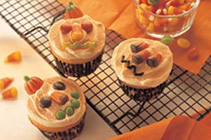 Ghoulish Pumpkin Cupcakes