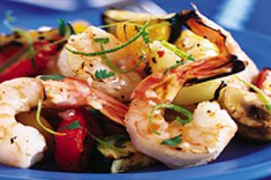 Crevettes et légumes grillés Image 1