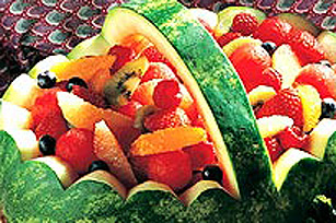 Panier de melon d'eau aux fruits Image 1