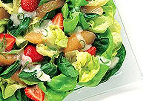 Salade d'épinards aux fraises et à l'orange KRAFT