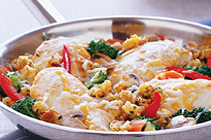 Cheddar Chicken & Vegetable Skillet