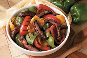 Grilled Tri-Coloured Pepper & Mushroom Salad Image 1