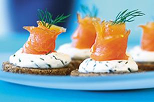 Pain grillé au saumon et au fromage PHILADELPHIA Image 1