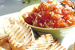 Bruschettas aux tomates et aux fines herbes fraîches