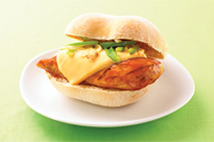 Cheesy BBQ Chicken Breast Sandwich