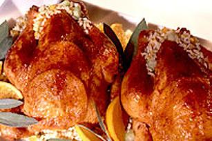 Poulets de cornouailles à la tangerine Image 1