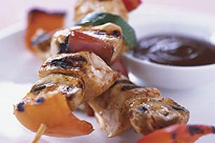 Brochettes de poulet grillées au barbecue