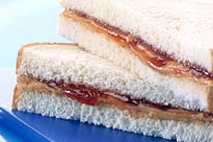 Sandwich au beurre d'arachide et à la confiture