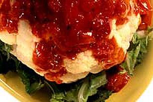 Chou-fleur vapeur avec tomate confite et origan Image 1