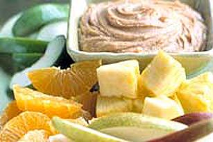 Trempette au buerre d'arachide pour les fruits