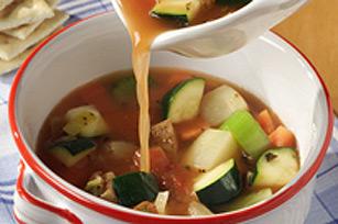 Soupe aux légumes printaniers