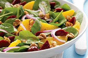 Citrus, Beet & Spinach Salad