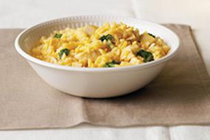 Riz au brocoli et au fromage avec dinde