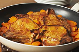 Côtelettes de porc mijotées éclair