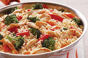 15-Minute Italian Chicken & Rice with Vegetables