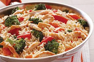 Riz italien au poulet et aux légumes