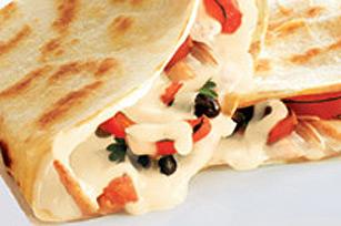 Quesadillas au poulet et aux haricots noirs