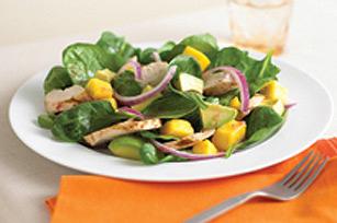 Salade de poulet grillé à la mangue