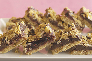 Chunky Chocolate-Jam Bars