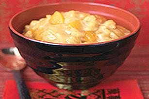 Pouding au riz chaud aux fruits Image 1