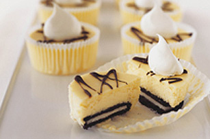 Mini cheesecakes con galletas de chocolate