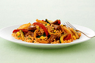 Porc à la mexicaine avec riz aux légumes Image 1