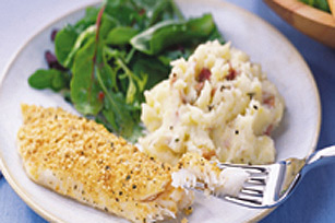 Crispy Herb Fish with Parmesan Potatoes