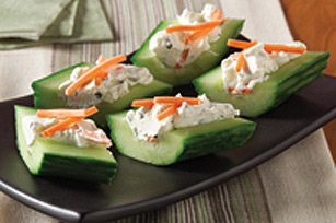 Cream Cheese 'n Herb Cucumber Bites