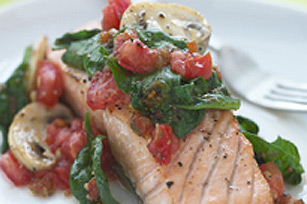Baked Salmon Provencale
